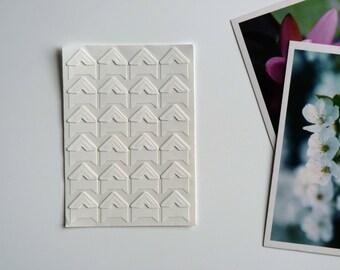 (24) white adhesive photo corners