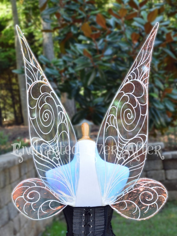 To Scale Adult Tinkerbell Or Periwinkle Vinyl Fairy Wings For