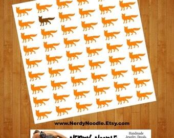 Fox Stickers, 54 Stickers, Fox Head Stickers, Fox Sticker Set, Fox Envelope Seals, Fox Envelope Stickers, Fox scrapbook stickers, party