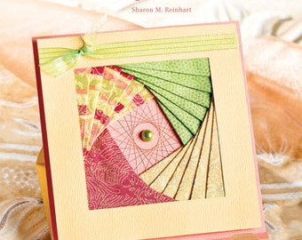 Iris Folding for LIfe's Special Moments, Decorative paper folding crafts, special greeting card how to, how to Cardstock paper crafting