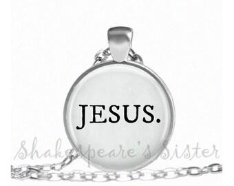 Jesus Necklace - Christian Jewelry - Spiritual Necklace - Inspirational Jewelry