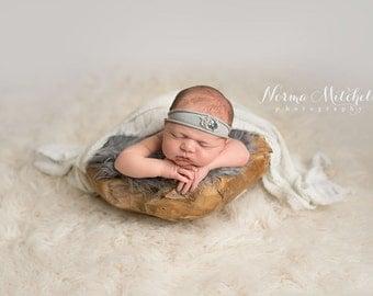 Basket Stuffer Newborn Faux Fur 18x20 Charcoal Gray Photography Backdrop, Newborn Photo Prop, Faux Fur Fabric, Basket Filler