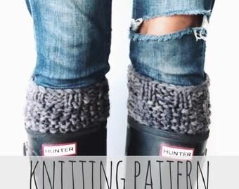 PATTERN for Knit Boot Cuffs Seed Stitch Warmers // Jardin Du Luxembourg Boot Cuffs PATTERN