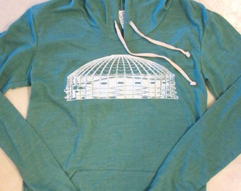 Womens Kingdome hoodie. Alternative apparel. Seattle hoodie.