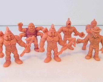 Flesh MUSCLE Men Toy Figures Y.S.N.T Mattel 1980s Lot of 6