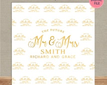 Photo Booth Backdrop Custom Step and Repeat Backdrop Banner Engagement Party Wedding Backdrop Red Carpet Printed or Digital File