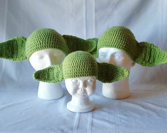 Yoda Beanie - Infant to Adult sizes