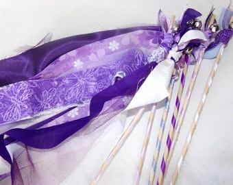 Rustic Wedding Wands, Set of 200, Reception Favors, Wedding Send Off, Custom Colors, Double Streamer Waving Wands