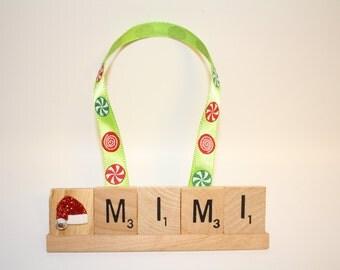 Mom Ornament, Grandma Ornament, Mimi, Mimi Gift, Mimi Ornament, Grammy Gift, Grandma, Custom Ornament, Name Ornament, Papaw, Mama, Christmas