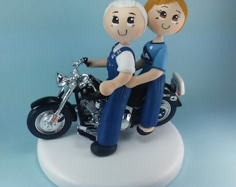 Wedding cake topper, motorcycle cake topper