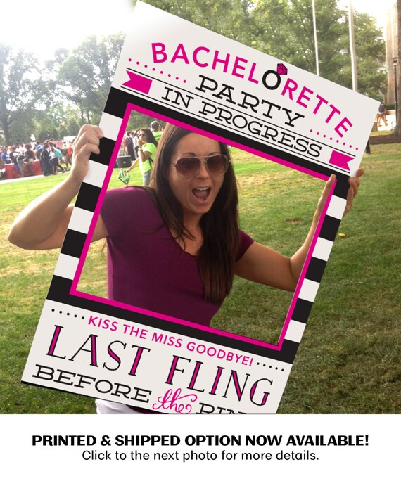 Bachelorette Party Photo Prop - Easy Printable PDF - 24x36 Photo Prop File -Bachelorette Party Prop - PDF - Printed Option NOW Available