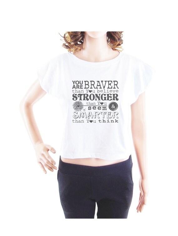 Women t shirt workout shirt funny tee crop top crop tee size S