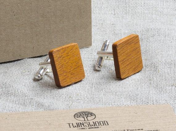 Kusia Wood Cufflinks. Personalized Cuff Links. Engraved Monogrammed Initial Wooden Cufflinks. Сustom cufflinks. Groomsmen Gift. Xmas