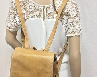 Backpack bag,Tignanello ,Tan Leather ,Backpack