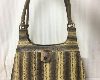 Free Ship Snakeskin Leather Purse Shoulder Bag
