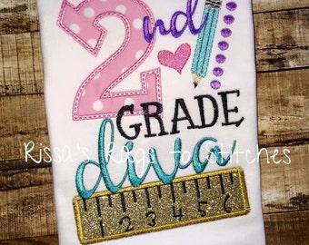 Back to School Shirt...PreK through 6th Grade Diva