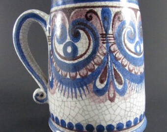 Gmunden Handcrafted and Beautifully Decorated Earthenware Mug