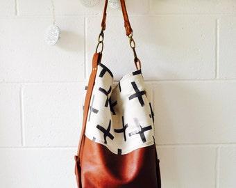 Leather Hobo Bag -Large Leather Shoulder Bag - Etsy Design Award - Tan Hobo bag - Bucket Bag - Hand Made in Australia