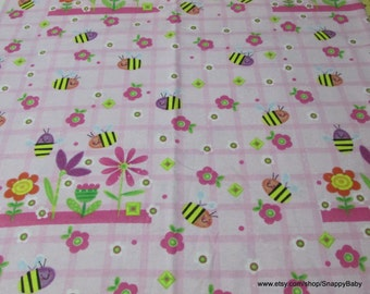 Flannel Fabric - Sweet Bee - 1 yard - 100% Cotton Flannel