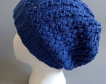 Lightweight Slouchy Beanie Winter Hat in Blue | AZUL