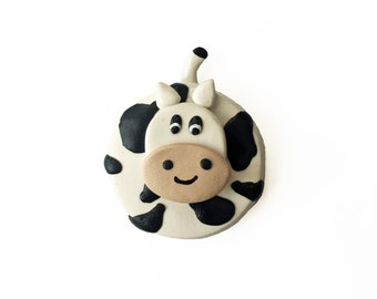 Cow Magnet - Kitchen Magnet - Polymer Clay Magnet - Fridge Magnet - Cute Magnet - Farm Animal Magnet - Kitchen Magnet