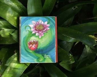 Lotus Flower Personalized Planner | Student Planner | Daily Planner | Monthly Planner