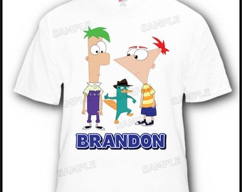 Personalized Phineas and Ferb Perry the Platypus Disney Vacation or Birthday T-Shirt
