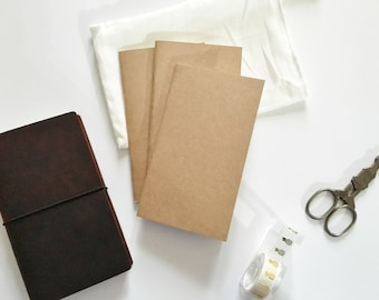 Pack of 3 Personal Size Inserts / Traveler's Notebook Insert  / Fauxdori Paper Refill