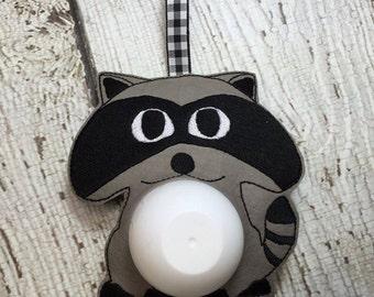 4 x 4 ITH Raccoon - Fabric Backed Sphere/Egg Lip Balm Holder - Lip Gloss - DIGITAL Embroidery Design