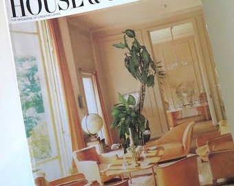 80s Vintage Magazine / 1984 House & Garden Magazine / Creative Living / Paul Anka / Luxury Homes / Home Furnishings / Interior Design