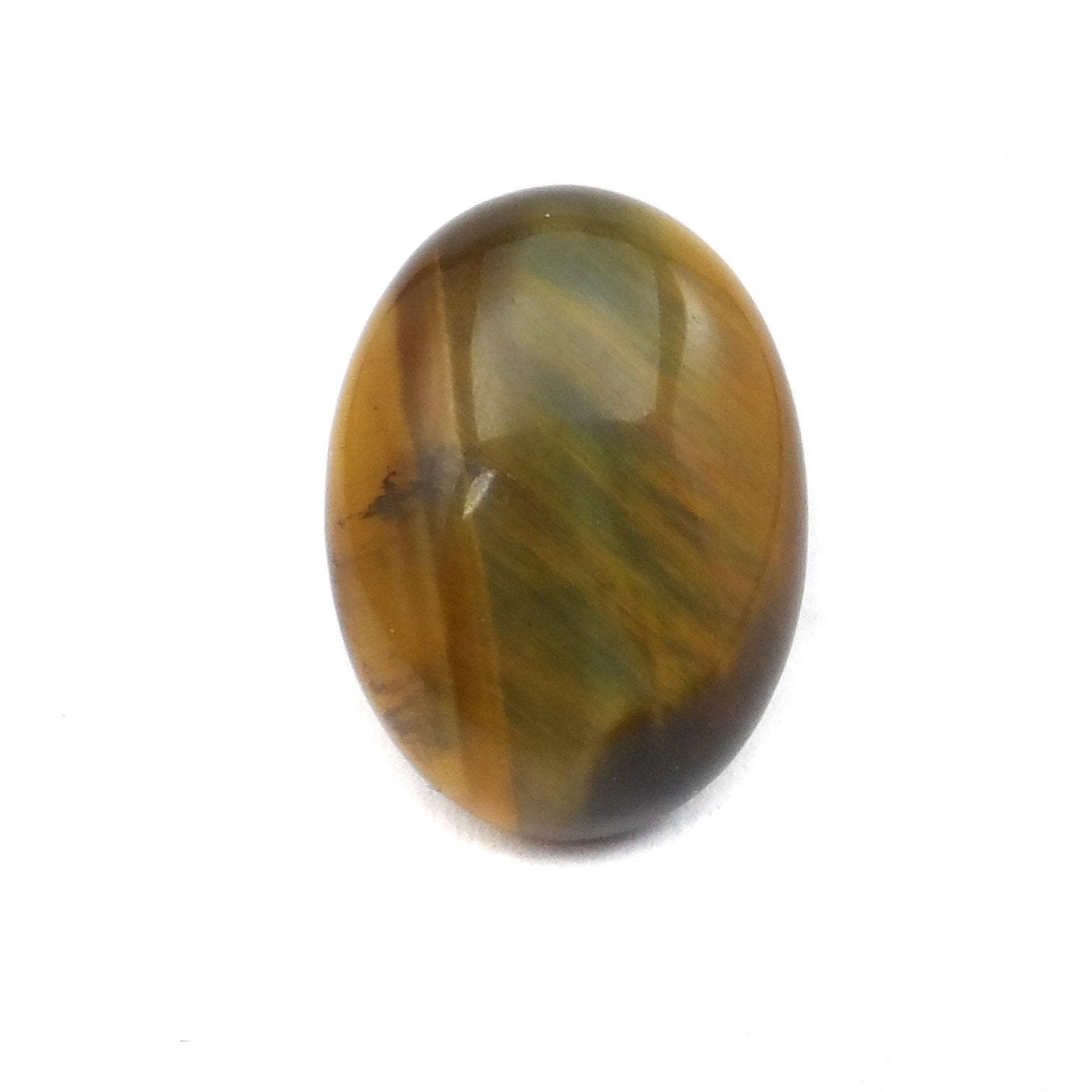 small tiger s eye cabochon oval gemstone cab