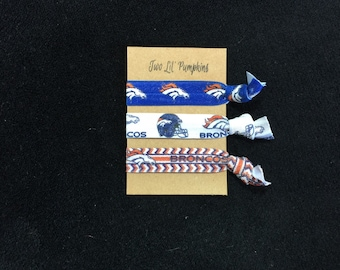 Denver Broncos Hair Ties, Denver Broncos Women, Denver Broncos Hairties, Denver Broncos Toddler, Denver Broncos Baby, Denver Broncos Elastic