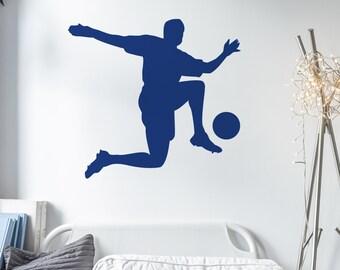 Footballer Wall Sticker - Wall art - Boys room - Sports - Wall tattoo - Home decor -
