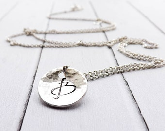 Monogrammed Necklace, Initials Necklace, Sterling Silver Necklace, Graduation Jewelry, Bridesmaid Gift, Gift for Her, Personalised Jewelry