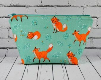 Fox Makeup Bag, Fox Cosmetic Bag