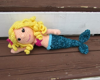 Crochet Mermaid Doll, Amigurumi Mermaid, Made to order
