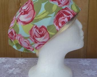 Elastic-back scrub/theatre hat, chemo hat