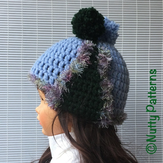 Double Crochet Hat Pattern With Ear Flaps : Crochet Patterns * Alex Hat * Double sided Double layer ...