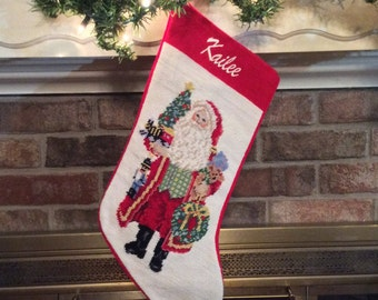 santa claus needlepoint christmas christmas stocking christmas stockings santa