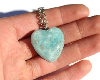 Fairy Kei Necklace Glow in the Dark Jewelry Cute Blue Sky Heart Pendant Fun Gift for Teenager