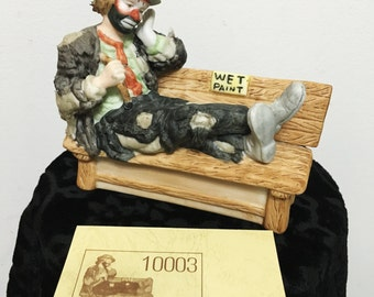 Wet Paint Figurine by Emmett Kelly Jr Exclusively for Flambro, Emmett Kelly Jr Miniature Collection, EKJ Flambro Sad Clown Figurine