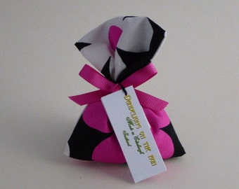 Large Scented Sachet, Lavender and Mixed Herb, Pink and White Floral