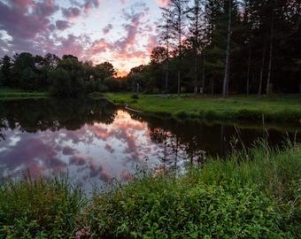 Sunset at Camp Kirchenwald
