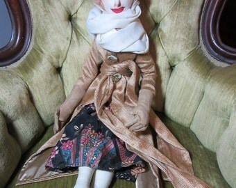 Tamara, cloth art boudoir doll