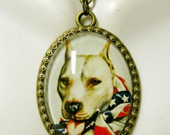 WWII Pitbull pendant with chain - DAP09-129