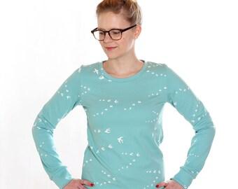 Sweater Wilma / / Mint green swallows