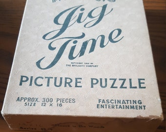 Jig Time picture puzzle,Hous in the Woods, Series B-9, copyright 1933