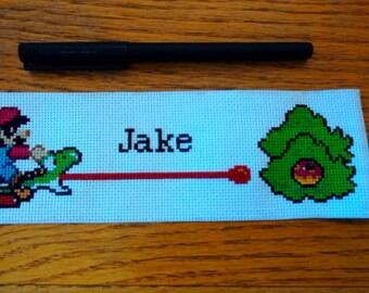 Mario/Princess Peach custom name bookmark