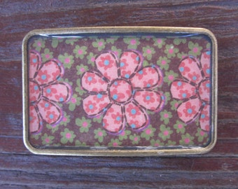 belt buckles Daisy Flower belt buckle bohemian belt buckle gypsy chic belt buckle resin belt buckle Lavish Lucy Designs bronze belt buckle