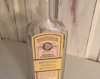 Watkins Double Strength Imitation Vanilla Extract Collectors Bottle and Box